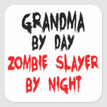 Grandma Zombie Slayer Square Sticker