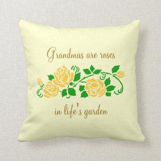 Grandmas and Roses Pillow