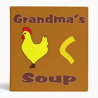 Grandma's Chicken Noodle Soup Recipe Binder
