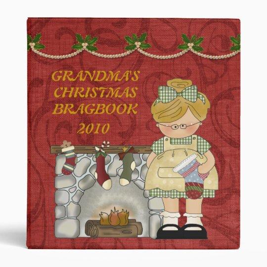 Grandma's Christmas Brag Book binder