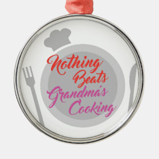 Grandmas Cooking Silver-Colored Round Ornament