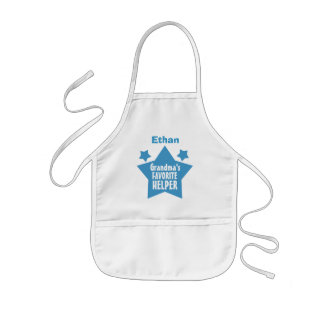 GRANDMA'S Favorite Helper with Name with STARS V09 Aprons