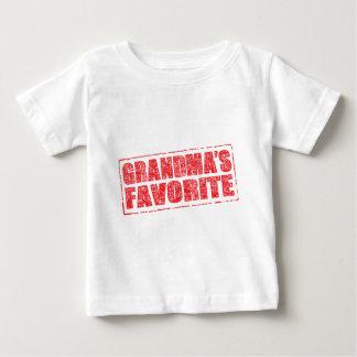 Grandma's Favorite rubber stamp image Baby T-Shirt