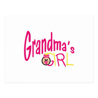 Grandmas Girl Postcard