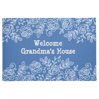 Grandma's House Lace Personalize Doormat