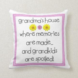 Grandma's House - Where Memories Are Made Throw Pillow