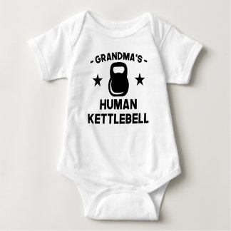 Grandma's Human Kettlebell Baby Bodysuit