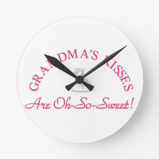 Grandma's Kisses Wall Clocks