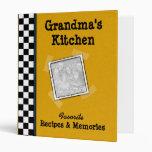 "Grandma's Kitchen 1"" Family Recipe Binder"