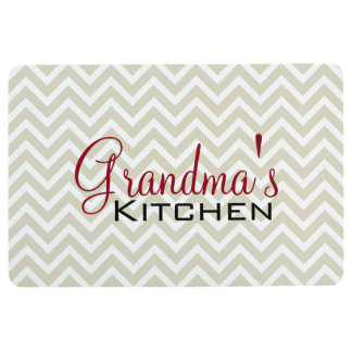 Grandma's Kitchen Chevron Stripes Pattern Floor Mat