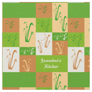 Grandma's Kitchen Fall Grass Fabric