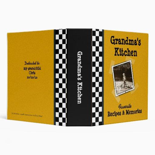 "Grandma's Kitchen Recipe 2"" Binder with Photo"
