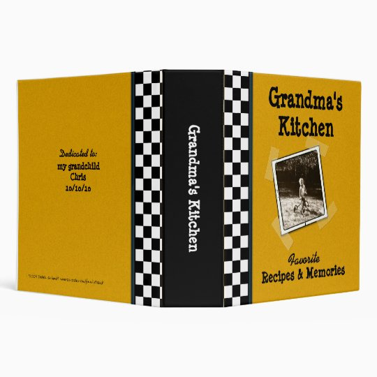 "Grandma's Kitchen Recipe 2"" Binder with Photo"