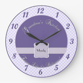 Grandmas Kitchen Wall Clock - Chex Purple