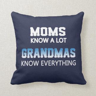 Grandmas Know Everything Throw Pillow