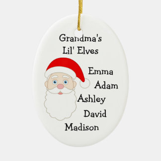 Grandmas Lil Elves Ceramic Ornament