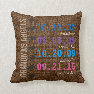 Grandma's Little Angels Throw Pillow