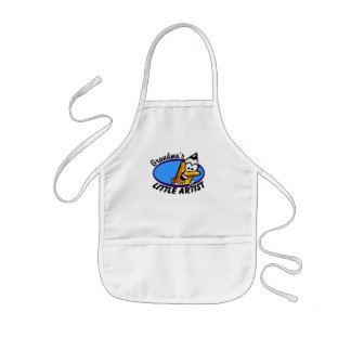 Grandma's Little Artist Kids Apron