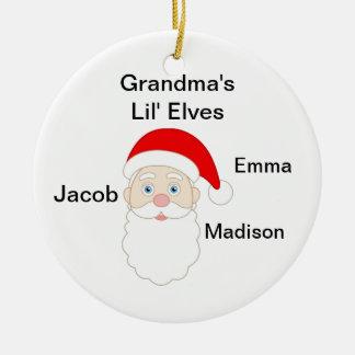 Grandmas Little Elves Ceramic Ornament