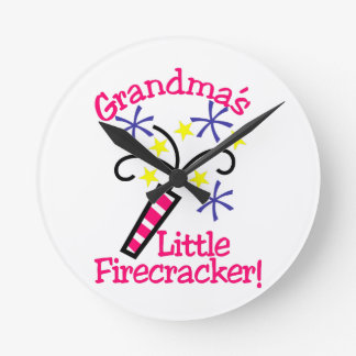 Grandma's Little Firecracker! Wallclocks