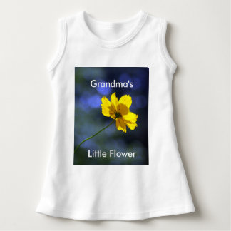 Grandma's Little Flower Baby Suit Dress