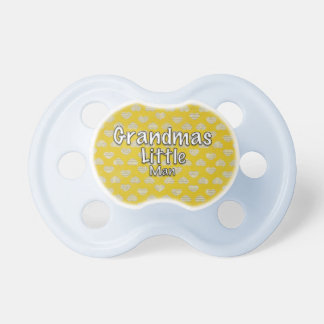 Grandmas Little Man Heart  Booginhead Pacifier