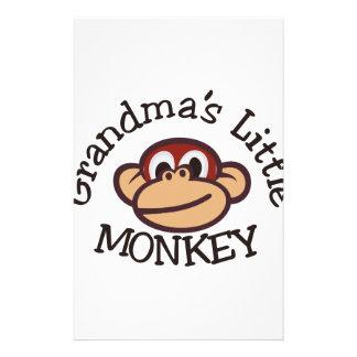 Grandma's Little Monkey Stationery Paper