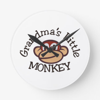 Grandma's Little Monkey Wallclock