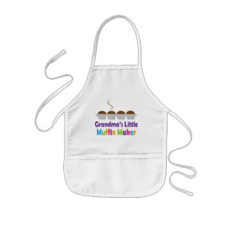 Grandmas Little Muffin Maker Kids Apron