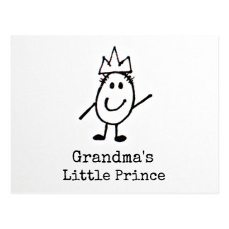 Grandma's Little Prince Postcard