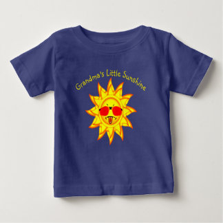 Grandma's Little Sunshine  Sun with Attitude Baby T-Shirt