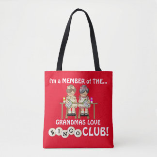 Grandmas love Bingo Club tote bag