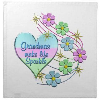 Grandmas Make Life Sparkle Napkin