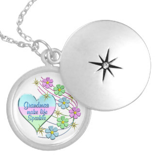 Grandmas Make Life Sparkle Silver Plated Necklace