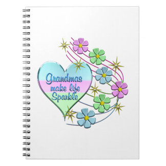 Grandmas Make Life Sparkle Spiral Notebook
