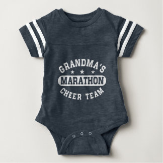 Grandma's Marathon Cheer Team Baby Bodysuit