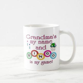 Grandmas my name Bingo is my game Coffee Mug