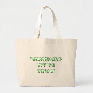 """Grandma's Off To Bingo"" Large Tote Bag"