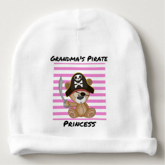 Grandma's Pirate Princess Baby Cotton Beanie Baby Beanie