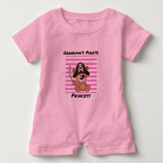 Grandma's Pirate Princess Baby Romper