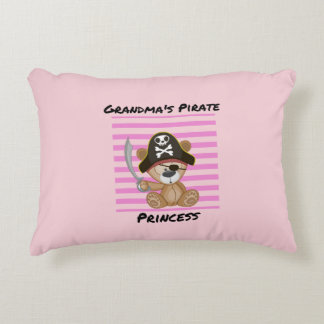 Grandma's Pirate Princess Brushed Polyester Decorative Pillow