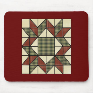 GrandMa's Quilt Vintage Pattern Mousepad