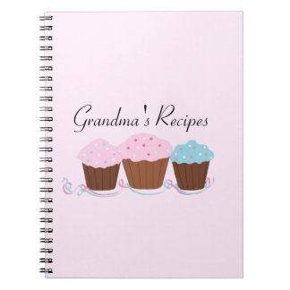 Grandma's Recipes - Frosted Cupcakes Notebooks