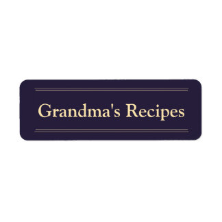 Grandma's Recipes Return Address Label
