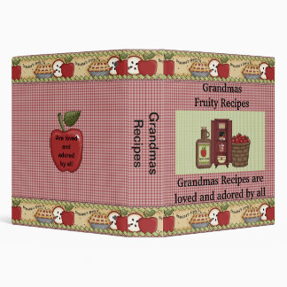 Grandmas Recipes Vinyl Binder