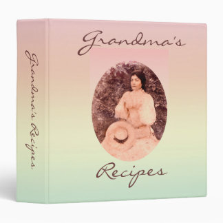 Grandmas Recipes Vinyl Binder