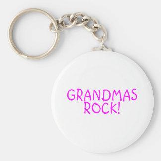 Grandmas Rock Pink Keychain