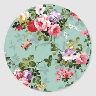 Grandma's Roses Classic Round Sticker