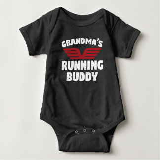 Grandma's Running Buddy Baby Bodysuit