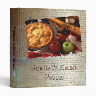 Grandma's secret recipes 3 ring binder